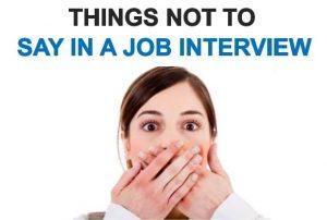 Những điều cần tránh khi trả lời phỏng vấn